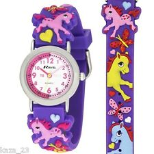 Ravel Pony Horse Design Time Teacher White Dial Kids Watch R1513.70