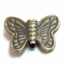 50 pcs Bronze Tone Butterfly Alloy Spacer Beads - A0566