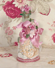 Victorian Rose & Cream Hand Decorated - Perfume Bottle Vintage Style BOT-21