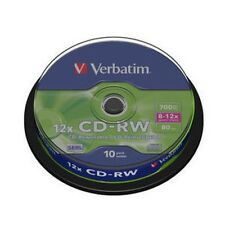 10 CD-RW VERBATIM 12X REWRITABLE (Riscrivibili)