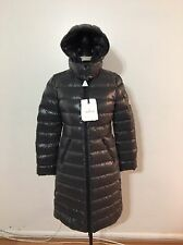 Women's MONCLER Moka Quilted Mid-length Down Parka, Size 2, Medium, Charcoal