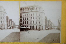 Antique Holmes Stereo Flat Card Of Broadway Ave, NYC Circa 1865 #1