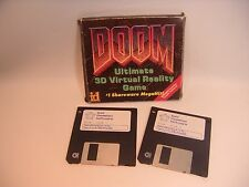 "Doom for MS-DOS PC Game 3.5"" Floppy Disk Set Rare Floppies and Box"