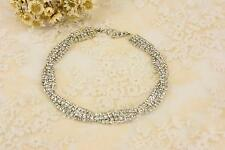 Spiral Rhinestone Applique Chain Crystal Trim Diamante Motif Bridal Accessories