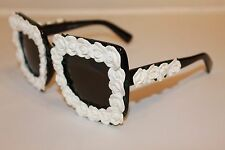 Dolce & Gabbana D&G DG4253 DG 4253 921/87 White Flowers Women Sunglasses NEW