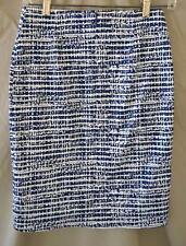 Derek Lam Navy & White Pencil Skirt Size XS - Waist 26""