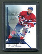 2014-15 SP Game-Used Rookies #109 Jiri Sekac Canadiens Autographed Card jh5