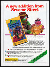 SESAME STREET__A New Baby in My House__Original 1994 Trade Print AD / promo