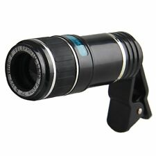 Universal 12X Zoom Phone Telephoto Camera Lens Clip On For iPhone Samsung HTC