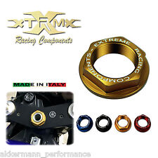 Head tube nut XRC, YAMAHA YZF-R 125, 08-12, Steering head nut, gold
