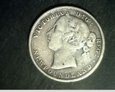 1900 Newfoundand, Canada 20 Cents, Med to High Grade .1401 oz Silver (Can-551)