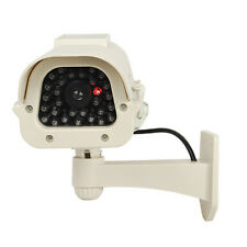 Solar Powered Bullet Dummy Security Camera/ Flashing Light Ships from USA White