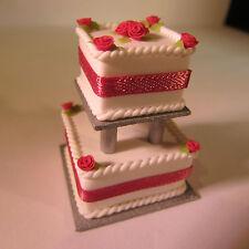 Pastel De Boda ~ muñeca casa miniatura de comida ~ 1/12 Scale