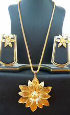 Indian Bollywood 22K Gold Plated Wedding Party Fashion Necklace Earrings Set