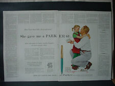 1959 Norman Rockwell Parker 61 Dad Daughter Pen Set X-Mas Vintage Print Ad 12175