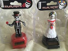 Solar Skeleton Couple Bobble Head Bride Groom Love Wedding Day of Dead Funny Toy