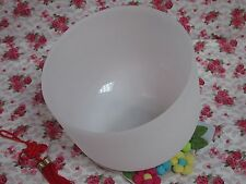 NEW FROSTED QUARTZ CRYSTAL SINGING BOWL 10'' A MUSICAL NOTE THIRD EYE CHAKRA