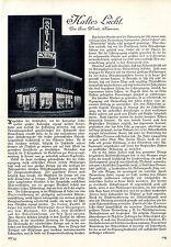 Kaltes Licht (zur Entwicklung des Röhrenlichtes) Histor.Aufsatz von 1929