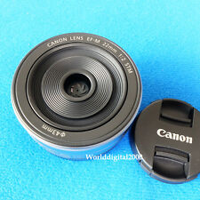 Canon EF-M 22mm F2 STM Lens For EOS M (Color:Silver)  Fast WorldWide Shipping -