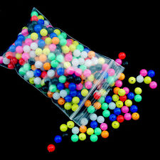 Hot 100Pcs Mixed 6mm Round Beads Soft Fishing Floating Tackle Tools Accessory