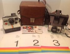 Polaroid Camera Lot OneStep And Minute Maker W/ Case And Manual