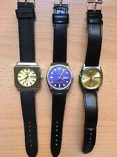 Lot of  3 wrist watches - Citizen Seiko   - Vintage Automatic Bargain