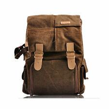 Canvas Camera Backpack Rucksack Bag For Nikon D3100 D3200 D5100 D5200 D7000