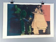 LEONARD BASKIN from Native American Suite -THE INDIAN BUREAU signed artist proof