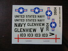 1/90 DECALS DOUGLAS DC3 US NAVY GLENVIEW  DECALCOMANIE