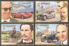 St. Vincent 1987 Ferrari/Rolls Royce/Benz/Cars/Motoring/Transport 4v set (s5304)