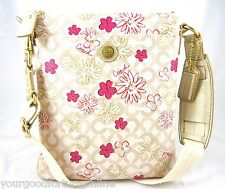 NWT Coach Waverly Flower/Floral PVC Crossbody/Swingpack/Shoulder Pink 45047 RARE
