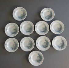 11 ANCIEN DINETTE FAIENCE GIEN Assiette creuse ANTIQUE CERAMIC TOY PLATE SET