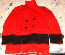VINTAGE HUDSON'S BAY CO. MEN'S LARGE SCARLET RED POINT MACKINAW COAT