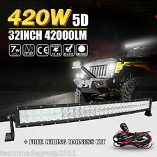 5D CREE 32INCH 420W CURVED LED LIGHT BAR SPOT FLOOD COMBO TRUCK PK OSRAM 30DAYS