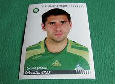 N°438 GRAX AS SAINT-ETIENNE ASSE VERTS PANINI FOOT 2009 FOOTBALL 2008-2009