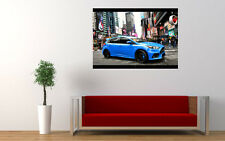 BLUE FORD FOCUS RS 2015 NEW GIANT LARGE ART PRINT POSTER PICTURE WALL