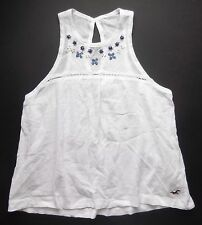 New Hollister Woods Cove Top White Womens Size X Small Embellished