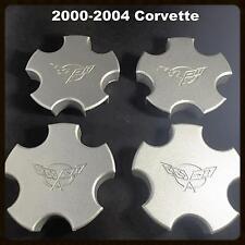 OEM Set of 4 2000-2004 Chevy Chevrolet Corvette CENTER CAPS 9593475 5105