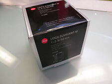 LEICA 50 MM F 2.5 SUMMARIT - M  ANODIZED BLACK NEW IN BOX