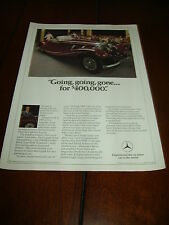 1936 MERCEDES BENZ TYPE 500K ROADSTER   ***ORGINAL 1981 AD***