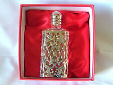 PERFUME BOTTLE~GLASS WITH  SILVER PLATING ~ PRESENTATION BOX