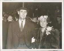 1939 Fashionably Dressed Boston Mayor Maurice Tobin & Wife  Press Photo