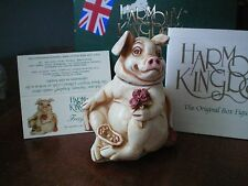 Valentine Romance Harmony Kingdom Fragonard Romantic Pig Flowers Perfume UK Made