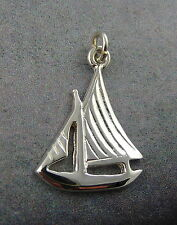 Ola Gorie Silver Sailing Boat Charm Scottish Boxed