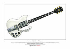 Keith richards's 1964 gibson sg custom limited edition fine art imprimé A3 taille