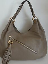 MICHAEL KORS Charm Tassel Large Gray Shoulder Bag Tote Free Shipping Sale