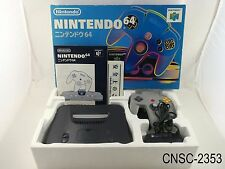 Boxed Nintendo 64 Japanese Import System N64 CIB Console Black Japan US Seller C