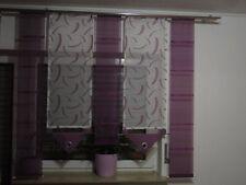 Gardinen/ Gardinen-Set/ Flächenvorhänge/ Schiebevorhänge weiß-lila modern