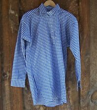 CIVIL WAR SASS BLACK AND WHITE CHECKERED MUSLIN SHIRT XXLARGE