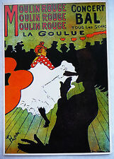 CPM REPRODUCTION AFFICHE ANCIENNE / LE MOULIN ROUGE / TOULOUSE LAUTREC